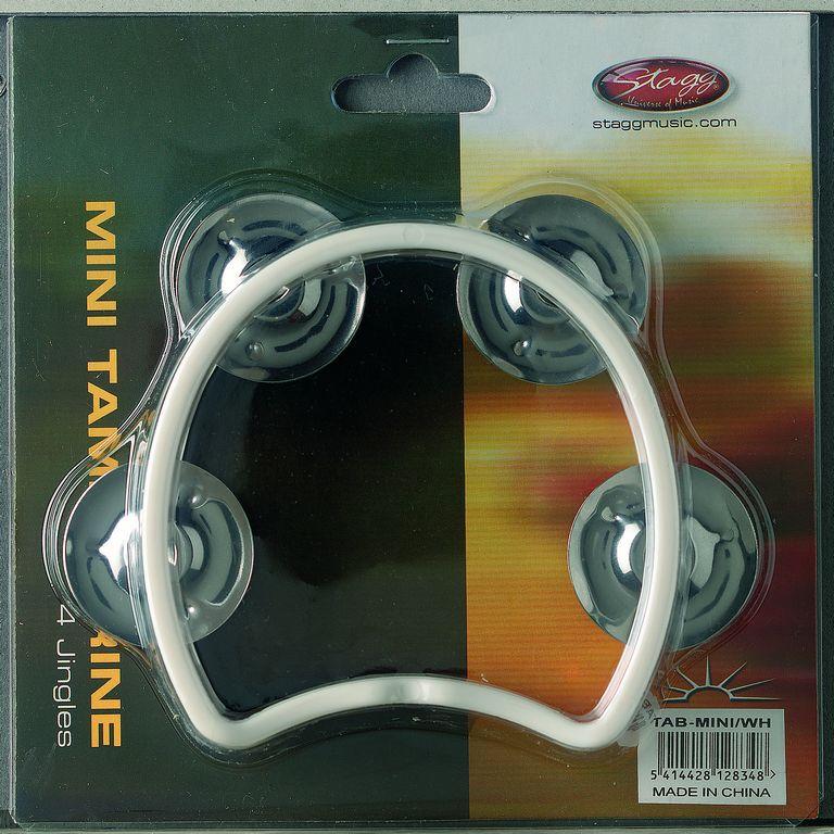 Stagg TAB-MINI/WH, mini tamburína bílá