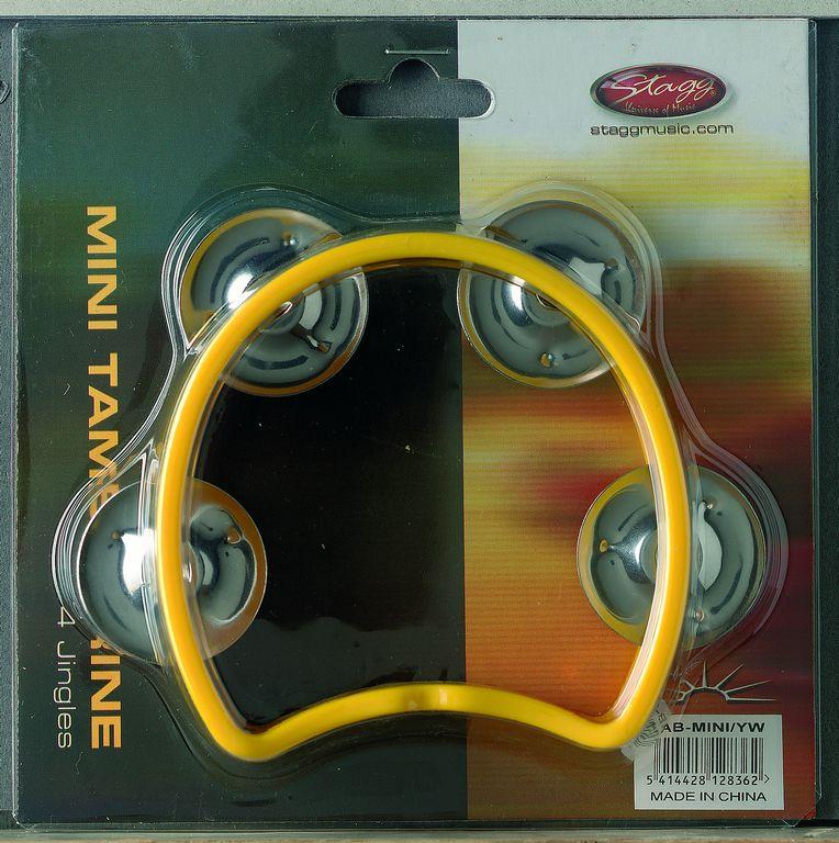 Stagg TAB-MINI/YW, mini tamburína žlutá